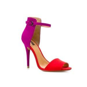 Zara Colorblock Heels - Sz 8